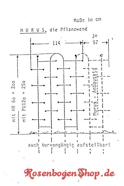 Pflanzwand MURUS 2 | 2,0m hoch, 1,14m breit